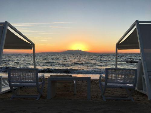 beach evening sunset
