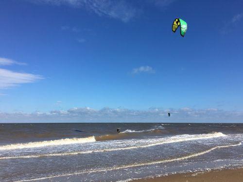 beach norfolk paragliding