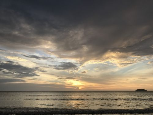 beach sunset sabah