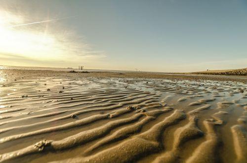 beach winter ebb