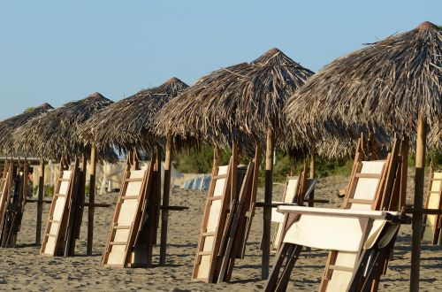 beach summer umbrellas