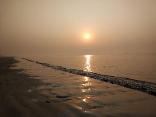 beach sunset sun