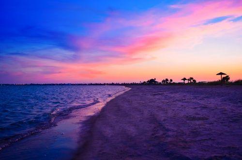 beach sunset sea