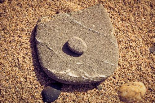 beach stone sand