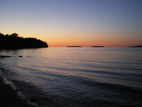 beach sunset serene