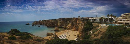 beach algarve panorama