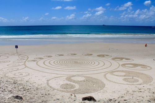 beach hippie art