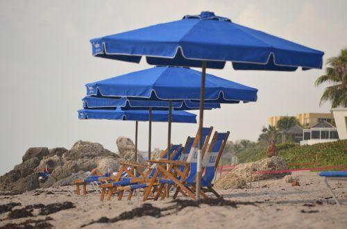 beach beach chairs beach umbrellas