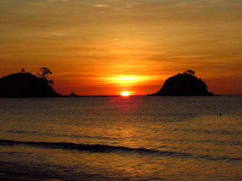 beach sunset islands