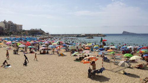 beach benidorm spain