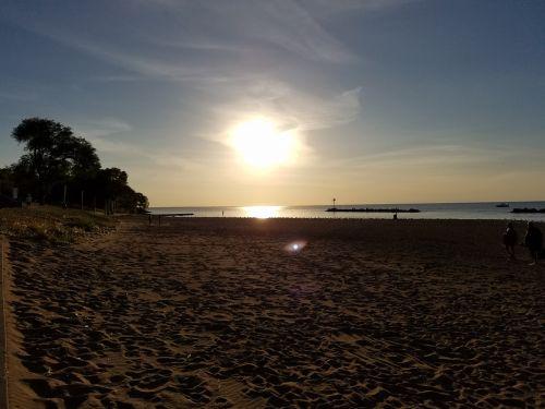 beach lake sun