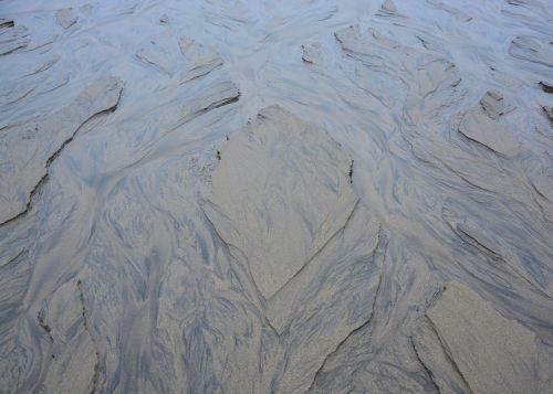 beach furrows sea water