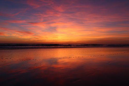 papludimys,saulėlydis,abendstimmung,paplūdimio vakaras,vakaras,jūra,farbenpracht