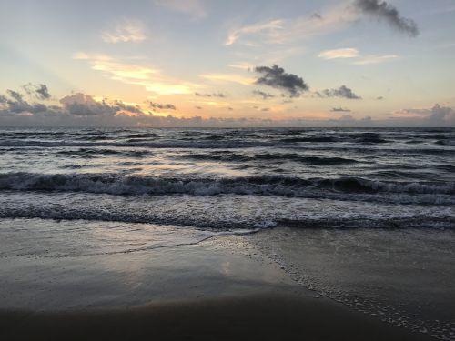 beach sunrise south padre island
