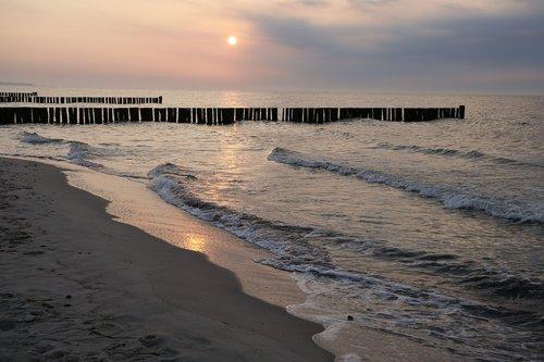 beach  abendstimmung  afterglow