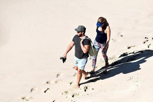 beach  sand  foot-prints