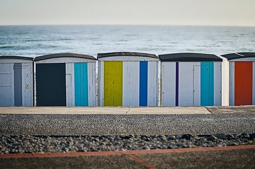 beach  changing cubicles  france