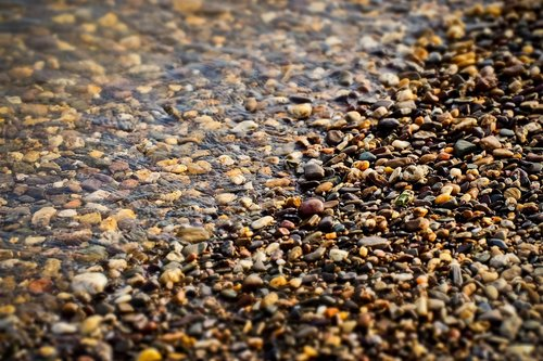 beach  pebble  water