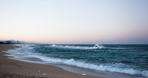 beach  waves  rocks