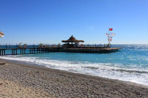 beach  sea bridge  sea