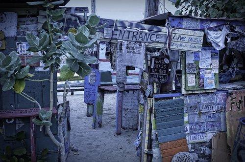 beach  bar  on the west