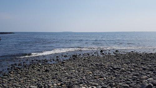 beach  jeju island  gravel