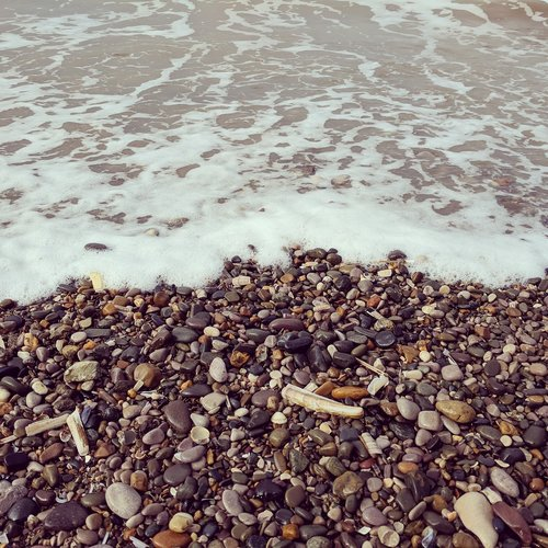 beach  wave  pebble