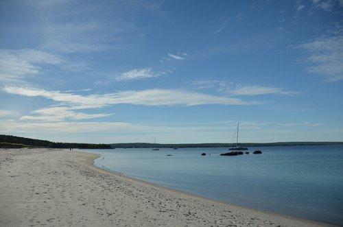 beach  nova scotia  sand