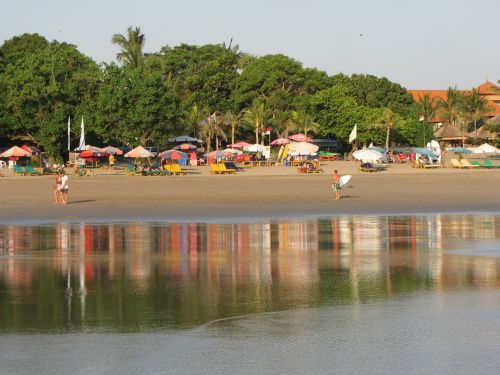 beach indonesia reflection