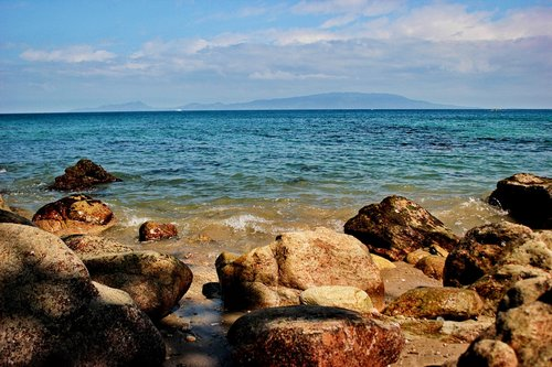 beach  rocks  puerto galera