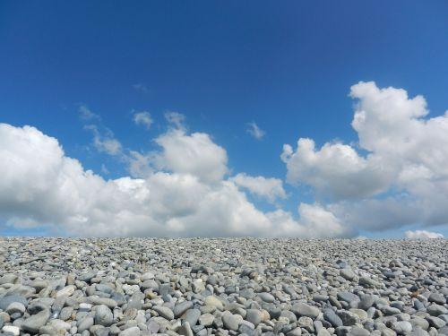 beach pebbles landscape