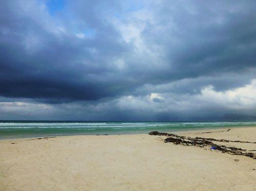 beach sea gloomy