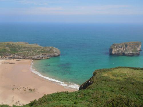 beach asturias spain
