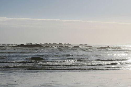 beach sea back light