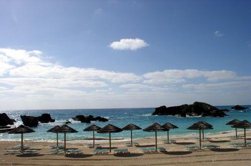 beach palapas ocean