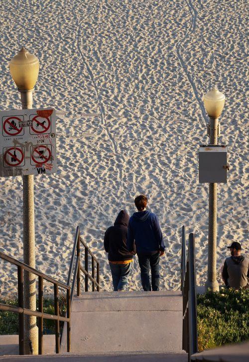 beach beach access couple walking