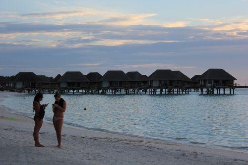 beach sunset maldives
