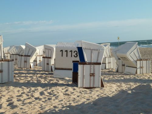 beach strandkorb sand