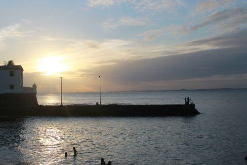 beach mar sunset