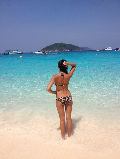 beach bikini ocean
