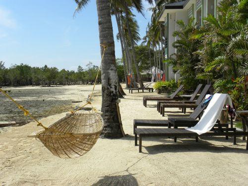 beach sea hammock