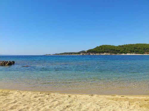 beach toroni sea