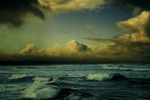 beach shore typhoon
