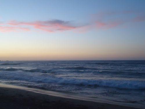 beach sunset sundown