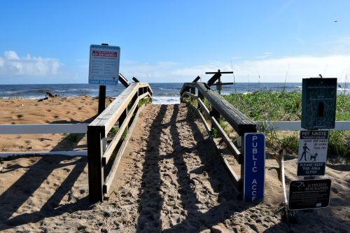 beach access walkway beach