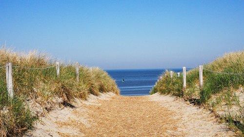 beach access  texel  dunes