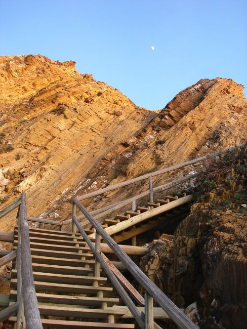 beach access costa vicentina stairs