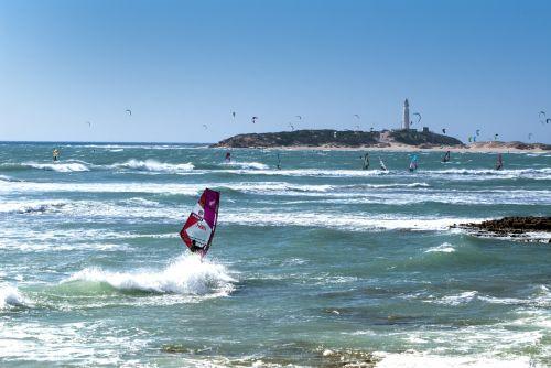 beach and windsurfing sports cadiz