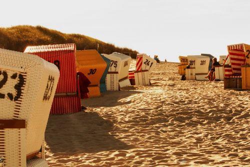 beach chair sea sand