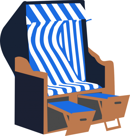 beach chair summer sea